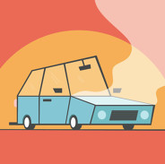 a car overheats
