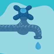 A faucet leaks