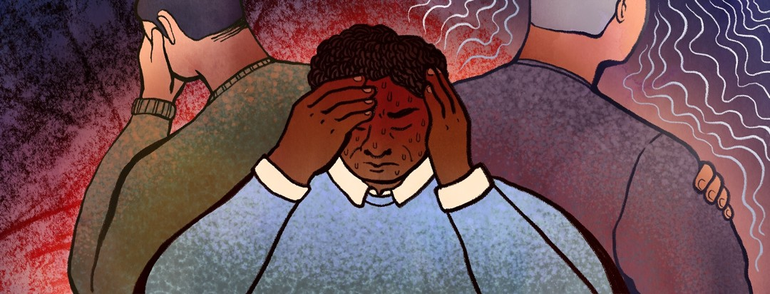 Three men experience different severe side effects of androgen deprivation therapy, ranging fro depression to sweating and chills.
