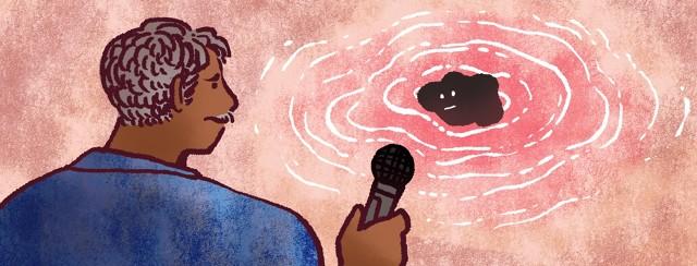 A man interviews a tumor.